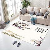 MIAO Druck chinesischen Stil Teppich Wohnzimmer Couchtisch Schlafzimmer Nacht Küche Badezimmer Anti-Rutsch-Matte (Farbe : E, größe : 140x200cm)
