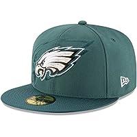 New Era Nfl Sideline 59Fifty Phieag Otc - Cappello Linea Philadelphia Eagles da Uomo, colore Verde, taglia 7 1/8