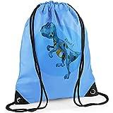 Boys Swim Bag, Boys Gym Bag, Blue PE Bag, Dinosaur Bag