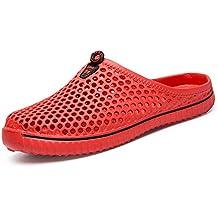 BIGU Hombre Mujer Zapatillas de Playa Ahueca Hacia Fuera Las Jardín  Sandalias Clogs Respirable de Zapatos 510742a55e7