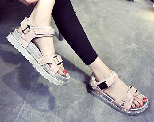 2017 nuovi sandali estivi sandali spesso scarpe selvagge 2