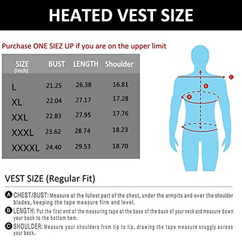 51OJfEBFNML. SS500  - OUTANY Men's Rechargeable Heated Vest Windproof USB,Winter Outdoor Sport Warm Insulated Vest