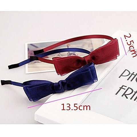 EQLEF® 2 Stück Mehrschichtige Verbandsmull Bogen Stirnbandbogenart--Knoten-Haar-Band