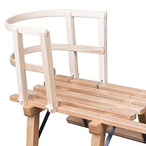 ScSports Kinder Schlittenlehne aus Holz massiv 50W0016 Schlitten, Länge: 26 cm Breite: 33 cm Höhe: 28 cm
