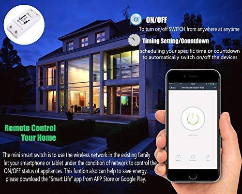 Aouvik Smart Home Wifi Fernbedienung Drahtlos Strom Schalter Switch