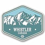 2x Whistler Kanada Vinyl Aufkleber Aufkleber Laptop Auto Reise Gepäck Label Tag # 9771 - 10cm/100mm Wide