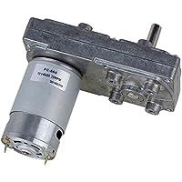 CNBTR 12-Volt-Elektrischer DC-Getriebemotor mit Metallgetriebekasten, Vierkant-Hochdrehmoment-Untersetzungsgetriebe, Silber, BHBAZUKLIK3304