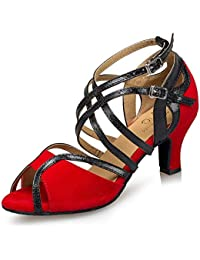 ¥*Shoes Mujer de Danza Zapatos Tacón Bajo Cómodo Waltz Prom Ballroom Zapatos de Baile