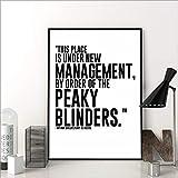 Serie de TV Cita Póster Peaky Blinders Imprimir Arte de la Pared Pintura Regalo 50cmx70cm