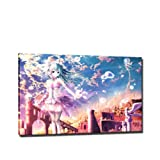 Anime Manga Bild auf Leinwand - 60 x 40 cm - Fertig gerahmte Kunstdruck Bilder als Wandbild - Billiger als Ölbild Gemälde - KEIN Poster oder Plakat