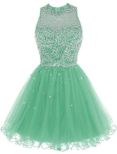 Fanciest Damen Luxury Beaded 2016 Kurz Heimkehr Kleider for Juniors Abendkleider Gowns Mint