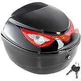 TecTake Universal baúl de moto scooter maleta motocicleta topcase negro 38x40x30cm