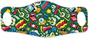 Hopcara Kids Printed Face Mask Pop Art Supersoft Double Layer Lycra Fabric for Full face covering around ear l