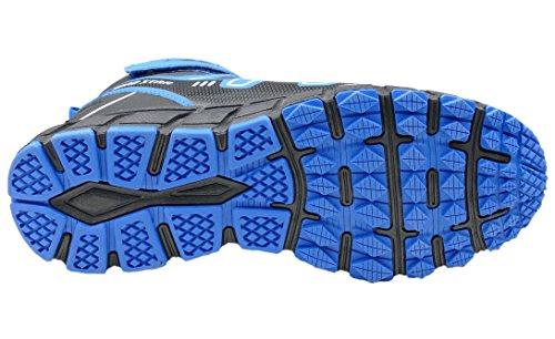 GIBRA® Herren Sneaker, warm gefüttert, schwarz/blau, Gr. 41-46 Schwarz/Blau