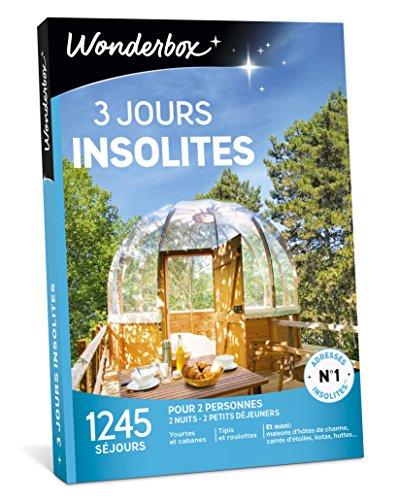 Wonderbox - Coffret cadeau de noel couple - 3 JOURS INSOLITES - 1245 week-ends...