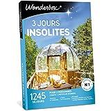 Wonderbox - Coffret cadeau 3 JOURS INSOLITES - 1245 week-ends atypiques en yourtes, roulottes, cabanes, tipis, kotas, huttes, belles demeures pour 2 personnes avec petits déjeuners