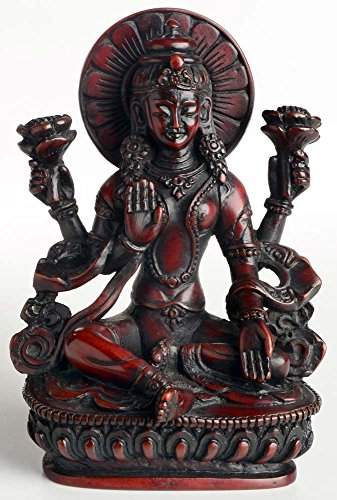 buddhafiguren-lakshmi-statue-14-cm-resin-brown-goddess-of-love-and-fertility-of-happiness-wealth-and