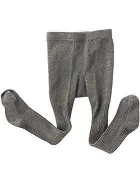 Feoya - Pantalones Elásticos Calcetines Medias para Invierno Polainas Pantimedias Caliente para Bebés Niñas