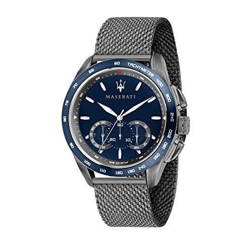 Maserati Herren Analog Quarz Uhr mit Edelstahl Armband R8873612009