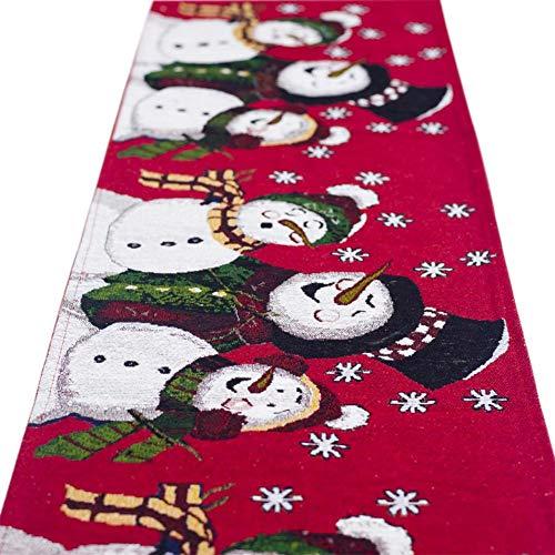 Camino mesa Noel–algodón lino bordado decoración