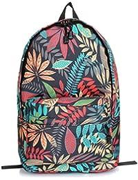 Bromeo colorido hoja de arce de diente de león Weed Estilo de impresión Viajes Colegio Satchel Bag Mochila Escolar