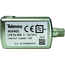 Televes 403402 - Filtro lte vhr f 47-782mhz c21-59