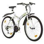 Multibrand-PROBIKE-Folding-MTB-26-26-Pollici-457mm-Mountain-Bike-Pieghevole-18-velocit-Full-Suspension-Unisex-Grigio-Verde-26-inch