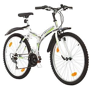 51OJnhY147L. SS300 Multibrand, PROBIKE Folding MTB 26, 26 Pollici, 457mm, Mountain Bike Pieghevole, 18 velocità, Full Suspension, Unisex…