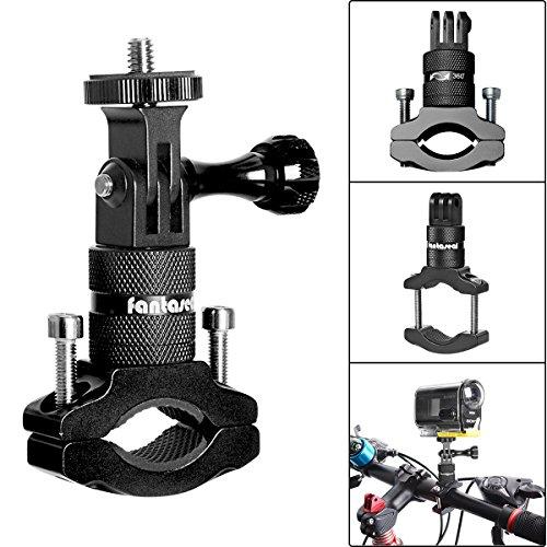 Soporte de cámara de acción para bicicleta, adaptador de manillar de aluminio giratorio de 360 grados para GoPro Hero 6/5/4/3+/3/2/Session Sony Action Cam y otros soportes de cámara deportiva para bicicleta