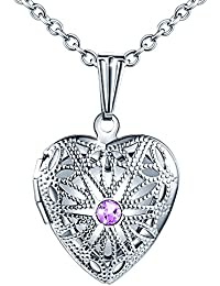 Rhodium Plated Trinity Claddagh Heart and Cubic Zirconia Locket 925 Sterling Silver DTPSilver