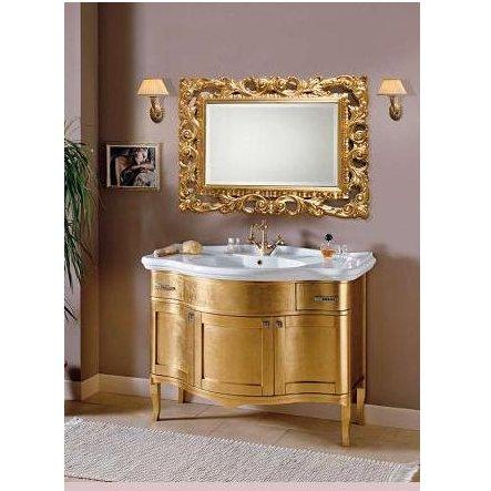 Mobile bagno cm 109 donatello foglia oro arte povera in massello mobili