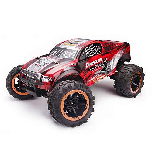 YYD 1: 8 großes ferngesteuertes Auto 80 km/h + Geschwindigkeit | Off Road Monster Truck RC Elektroautos | All Terrain Toys Trucks für Kinder und Erwachsene,Red