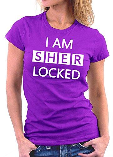I am Sherlocked Woman T-shirt Lila
