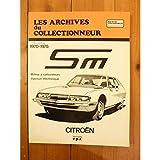 Les Archives du collectionneur : Citroen, SM 1970 à 1975, Moteur à carburateurs injection électronique