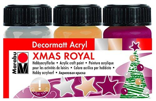 marabu-140100091-set-di-colori-acrilici-decorativi-x-mas-royal-15-ml