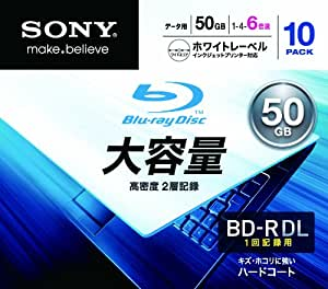 Sony BD-R DL 6X Blu-ray Discs, 10-pack (japan import)