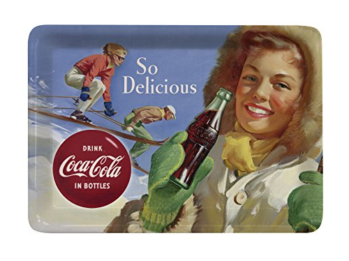 Platex 93111410930 Coca-Cola Plateau-Vide Poche Petit Décor Ski Mélamine 14 x 10 x 1 cm