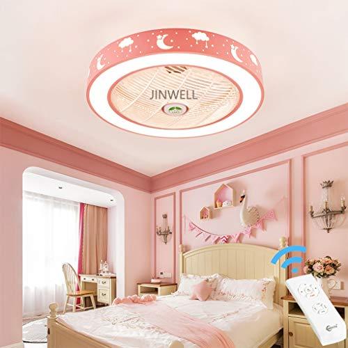 Nueva habitación infantil moderna invisible luz del ventilador creativo simple ventilador de techo...