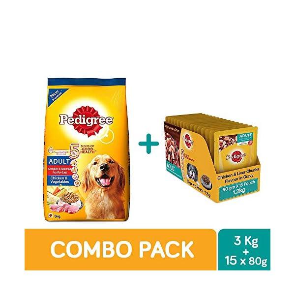 Pedigree Gravy Adult Dog Food, Chicken and Liver Chunks, 80 g