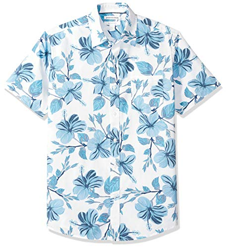 gular-Fit Short-Sleeve Print athletic-shirts, Large Floral, US L (EU L) ()