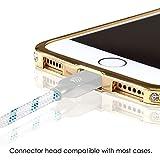Lightning Kabel - 3m, Blau, Neustes Design - Sehr schnelles iPhone 7 Ladekabel - verstärktes USB Datenkabel mit Knickschutz - Für Apple iPhone 7 6 5, iPad, iPod - SWISS-QA Geldrückgabe Garantie - 3