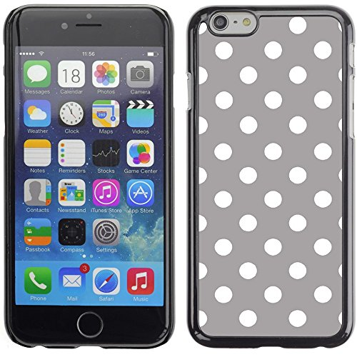 Graphic4You Polka Dots Pattern Design Hard Case Cover for Apple iPhone 6 Plus (Baby Blue) Grau