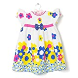 CHILDHOOD Stiched Baby Girls Cotton frocks (F-31-22_White)