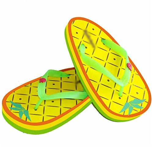 Tacco Flip Yiiquan Piatto Pantofole Donne Sandali Stile Della 4 Frutta Flop Infradito Stampa Della zzrnqBP0