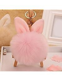Bluelans® Pom Pom Keyring, Artificial Rabbit Fur Fluffy Keyring Pom Pom Balls Key Ring Cellphone Bag Charm Pendant Keychain