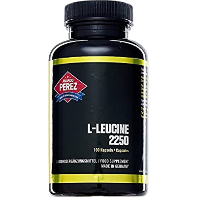 L-Leucine 2250 Mg Per Serving – 100 Capsules – Essential Amino Acid by Amando Perez ® Quality Sports Nutrition