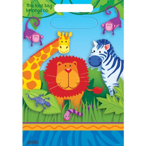 NEU Geschenktüte Jungle Animals, 8 (Australien Dschungel Kostüme)