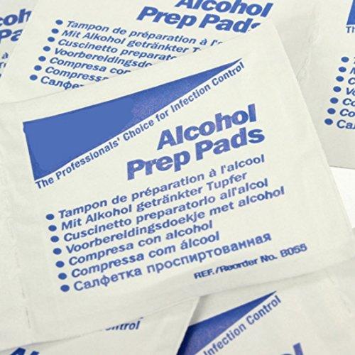 100Pcs primo soccorso alcol Prep Pad Panni sterile antisettico detergente a secco