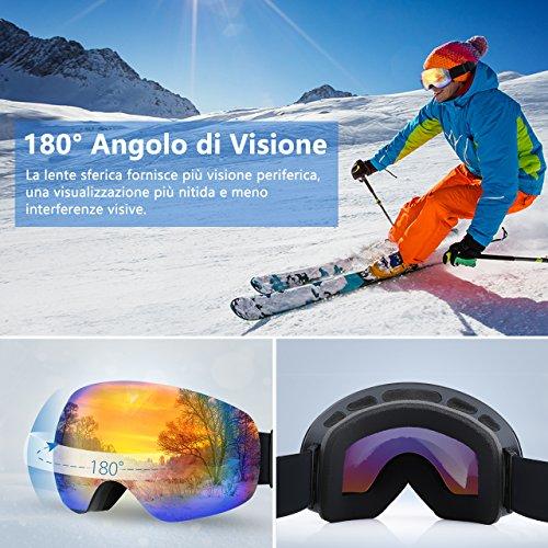 Zoom IMG-3 topelek occhiali da sci adulti