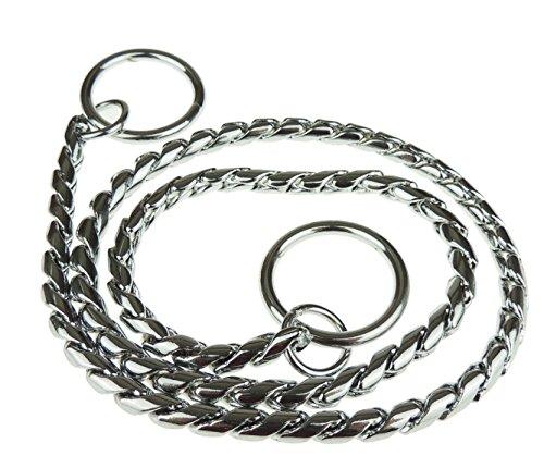 Glamour Girlz Hunde Metall Silber Ton Schlange Choke Training Kette Halsband Klein bis groß